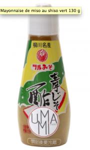 Mayonnaise de miso au shiso