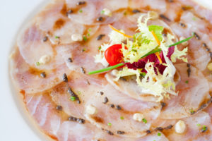 cod fish carpaccio