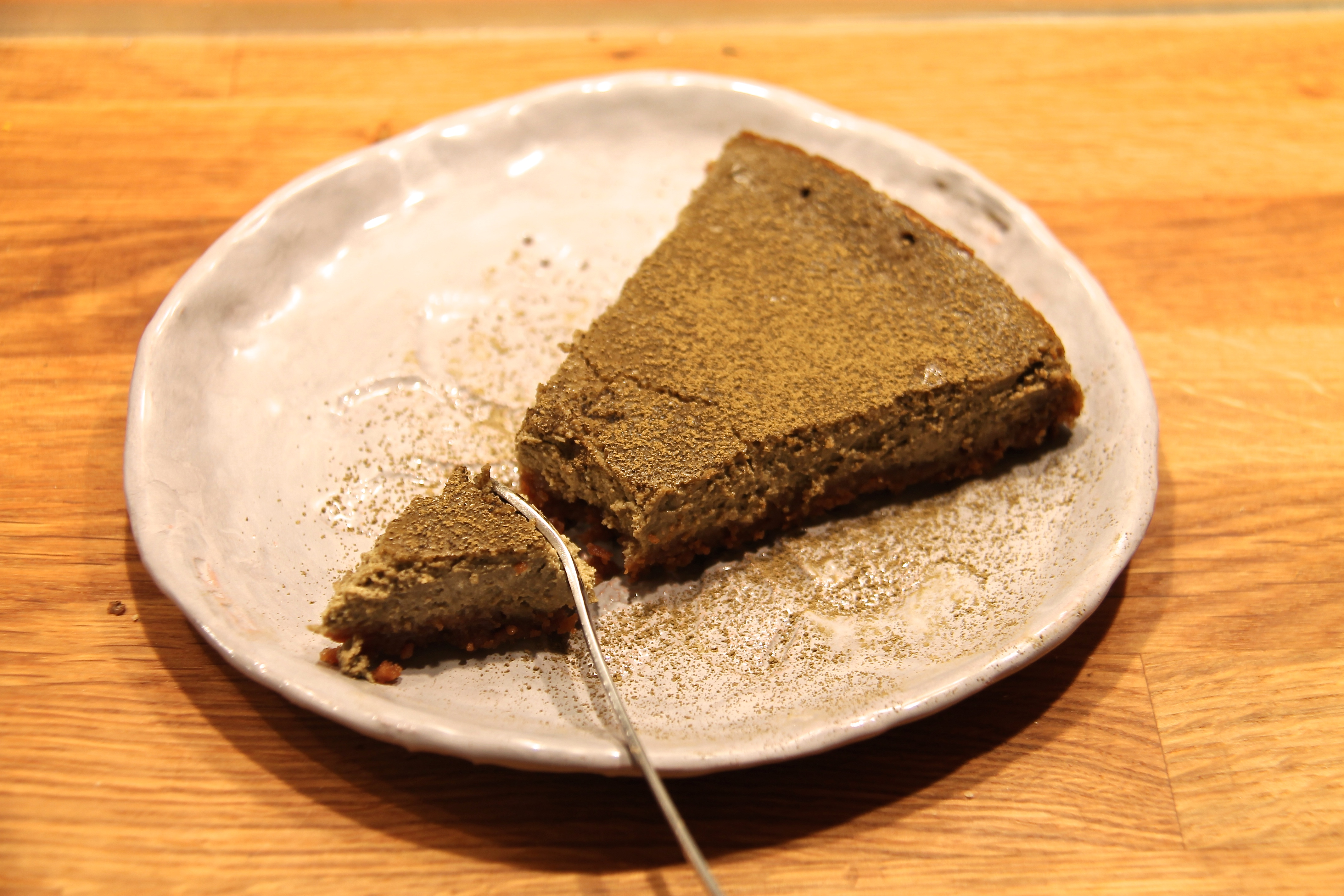 Cheese cake à l'hojicha