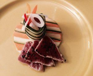 Ceviche de thon sudachi sansho