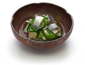 salade de sunomono concombre sardine