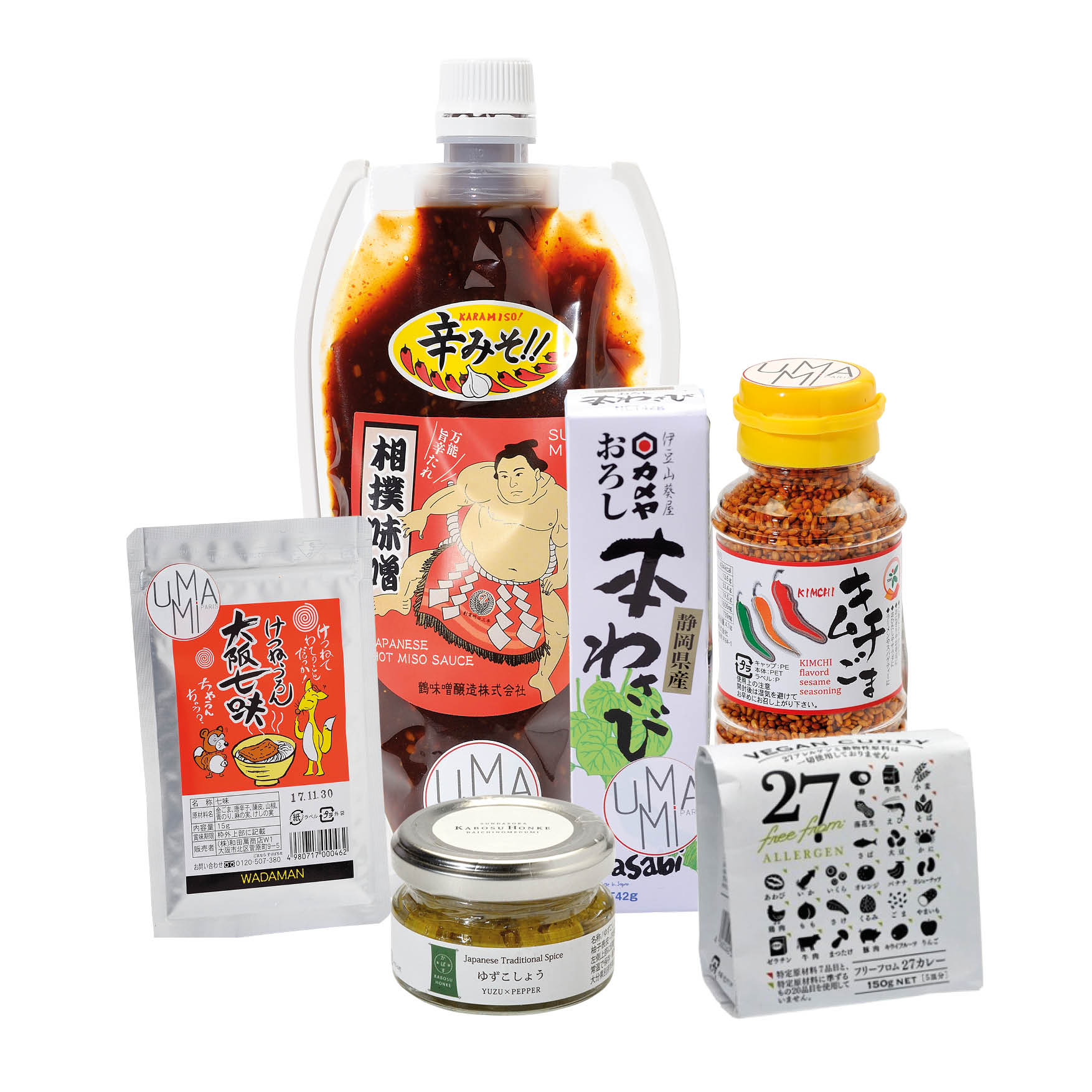 Yuzu kosho pepper japonais Japanese kabosu kosho black charcoal miso piquant miso paste miso soup wasabi hon wasabi Shichimi togarashi sésame au kimchi coreen curry japonais