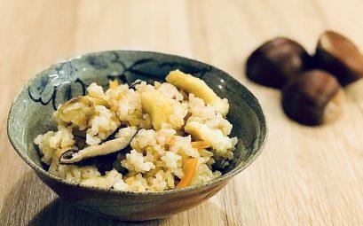 Riz brun aux châtaignes