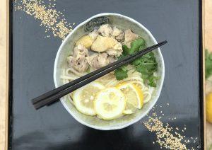 udons au poulet et yuzu