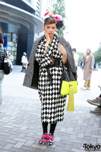 Femme en kimono moderne, Tokyo Fashion