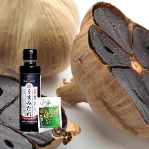 ail noir japonais d'Aomori et sauce soja à l'ail noir