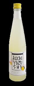 bouteille de sake au yuzu ou yuzushu