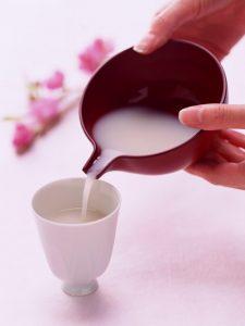 Amazake de Hina matsuri, boisson à base de riz fermenté au koji sans alcool