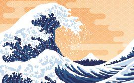 estampe de vague